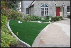 Choosing A Synthetic Lawn Over Grass Paint Synthetic