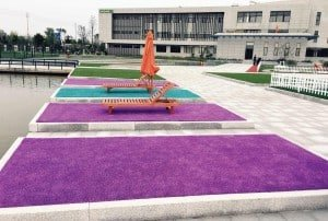 Color turf presents a great opportunity to showcase your creative side to landscapes big and small.