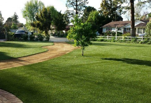 4,400 square feet of TigerTurf Majestic Pro synthetic grass. Photo: Custom Turf Scapes