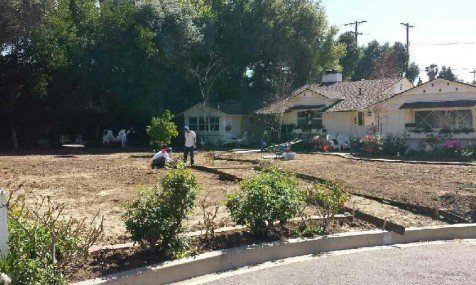 Before the installation for Custom Turf Scapes' client in Northridge, California. Photo: Custom Turf Scapes