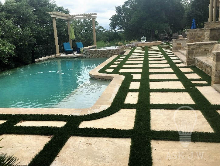 Placing Synthetic Turf In Between Concrete, Pavers, Travertine, Or Flagstone  Can Magnify The Beauty Of The Projects Design. Placing Synthetic Turf  Ribbons ...