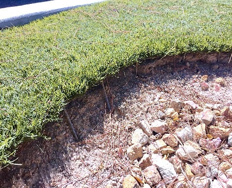artificial turf edging failure