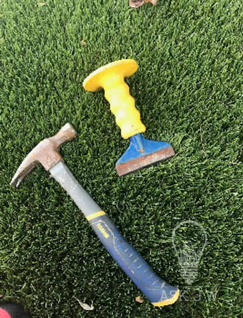 Other Chisels May Work Well, But You Must File Down The Sharp Edges Prior  To Using So That You Donu0027t Damage The Turf.